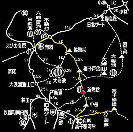 霧島登山道概略MAP