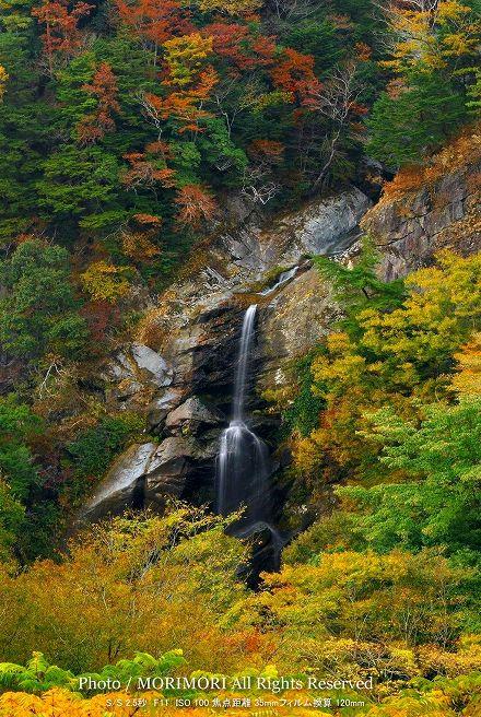 高千穂 竜ヶ岩の滝の紅葉